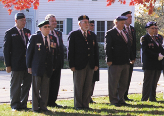 Legion members at Remembrance Day service